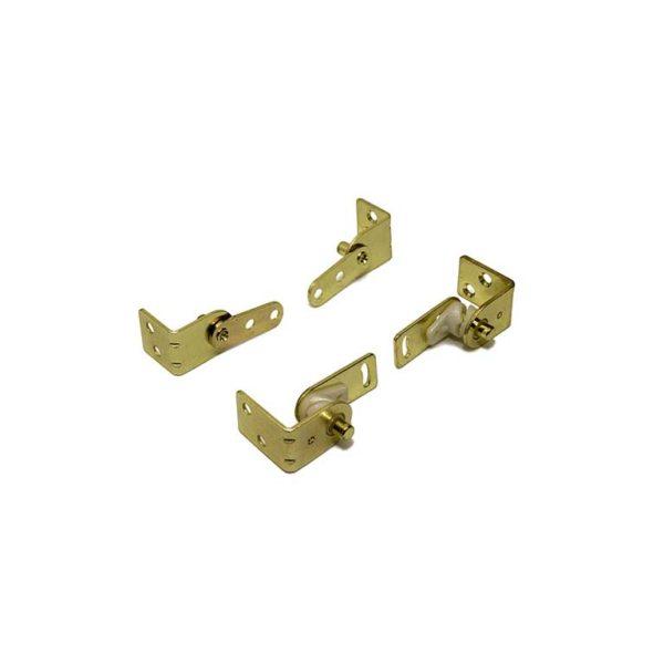 Saloondeurscharnier / set / voor 2 saloondeuren / staal vermessingd