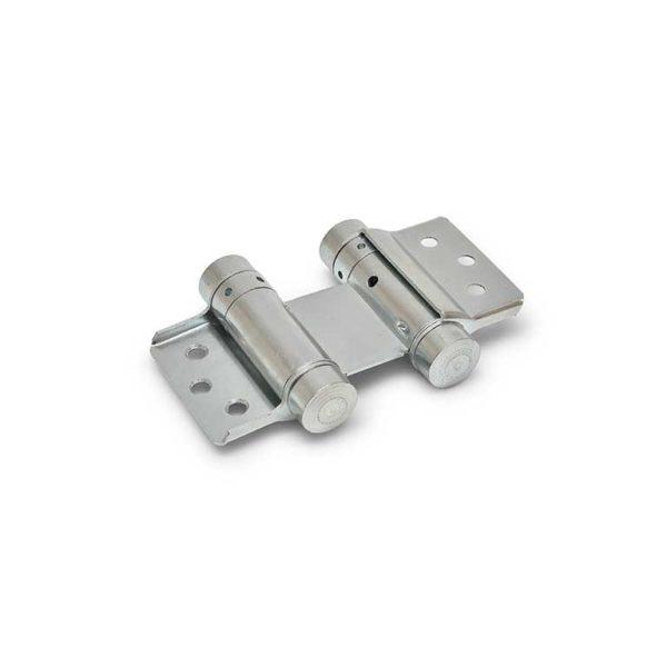Bommer scharnier / dubbelwerkend / 28/050mm / staal / zilvergrijs