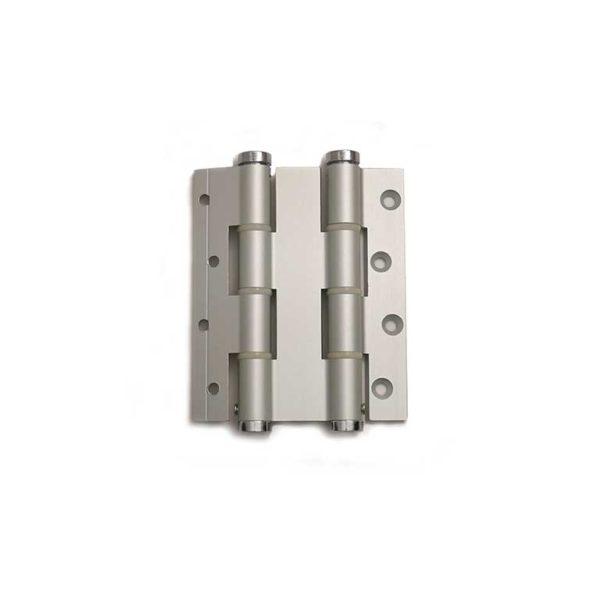 Deurveerscharnier dubbelwerkend 120/30mm / aluminium / zilvergrijs
