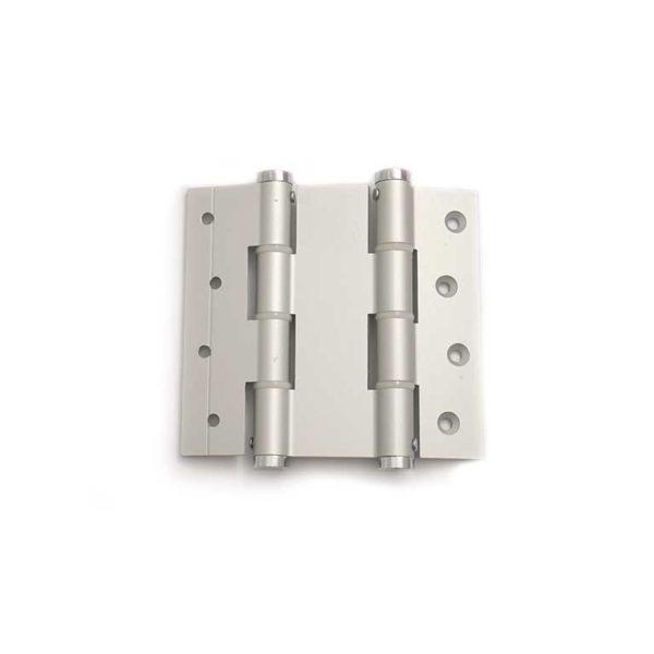 Deurveerscharnier dubbelwerkend 120/40mm / aluminium / zilvergrijs