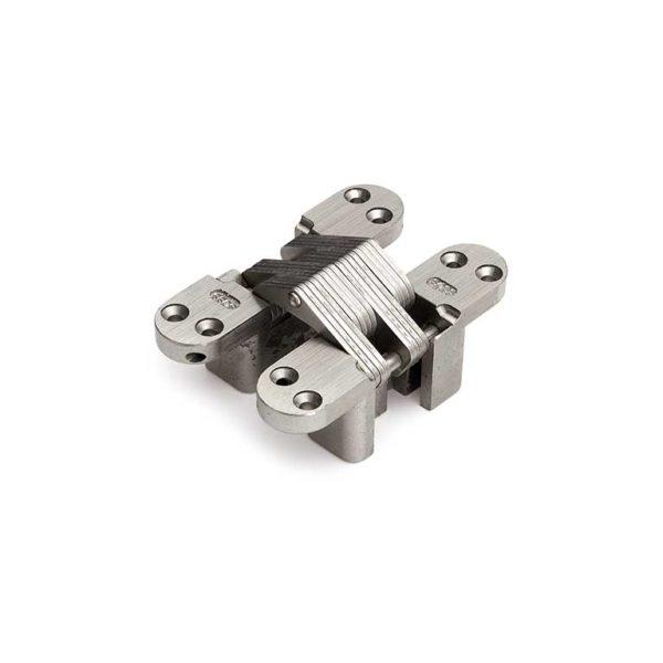Scharnier / SOSS 204 NP / 13x060 mm / deurdikte ca. 19 mm / zamac vernikkeld