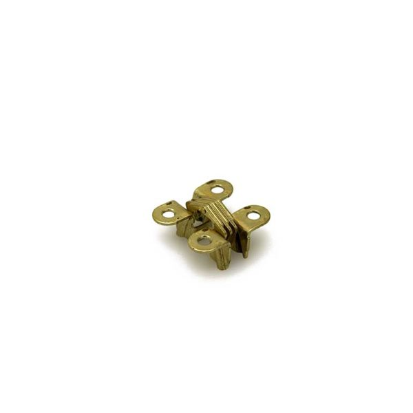 Scharnier / SOSS 101 PB / 9.5x042 mm / deurdikte ca. 13 mm / zamac vermessingd