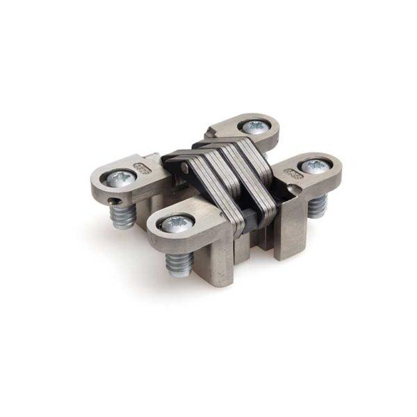 Scharnier / SOSS 218A ZPSS / 28x117 mm / deurdikte ca. 40 mm / verstelbaar / zink gepassiveerd / RVS lamellen en pennen