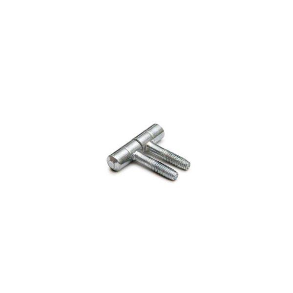 Meubel Inboorpaumelle / 09x038 mm / standaard type / staal verzinkt