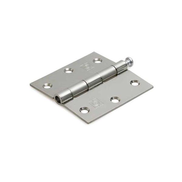 Scharnier / rechte hoeken / 76x76 mm / losse verzinkte pen / staal verzinkt
