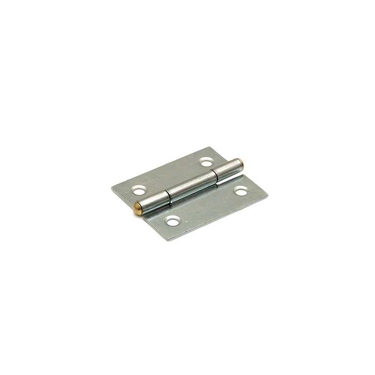 Smalscharnier / 40x32 mm / vaste messing pen / staal verzinkt