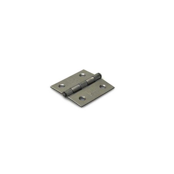 Scharnier / rechte hoeken / 51x51 mm / losse RVS pen / RVS geborsteld