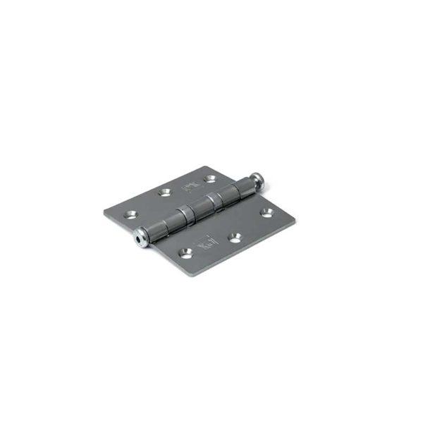 Kogellagerscharnier / rechte hoeken / 76x76 mm / verzinkte pen / staal verzinkt