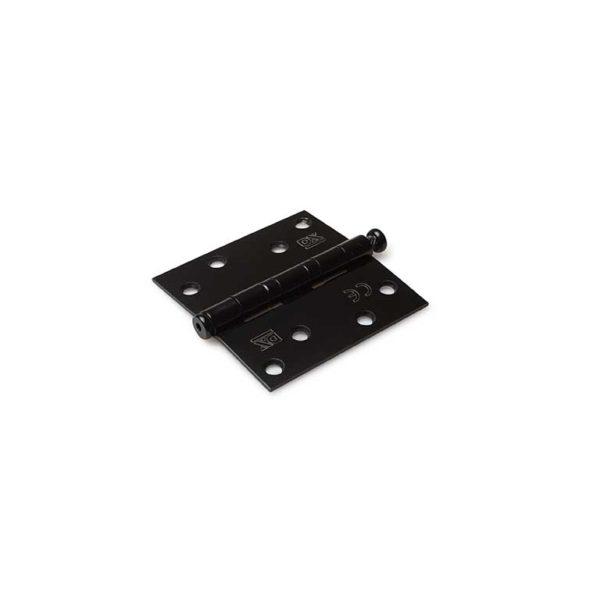 Kogellagerscharnier / rechte hoeken / 89x89 mm / RVS pen / RVS geborsteld