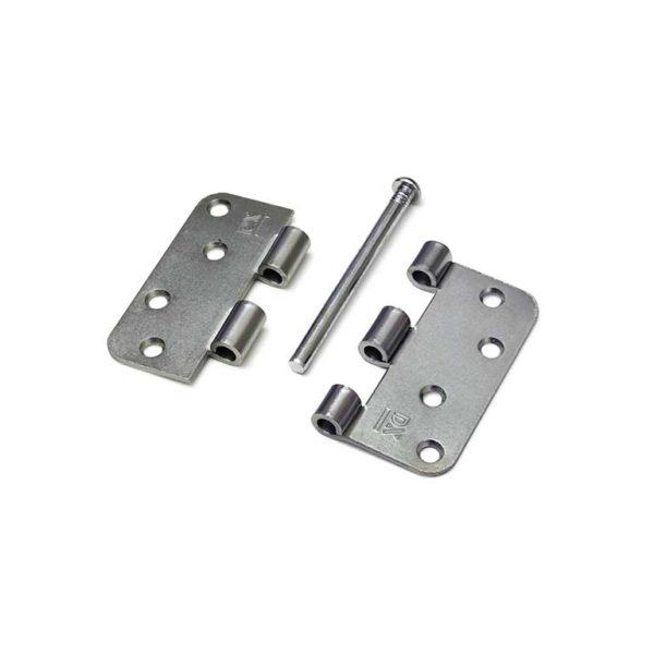 Scharnier / 3 mm / doorgezette knoop / ronde hoeken / 89x89 mm / losse verzinkte pen / staal verzinkt / los gestort