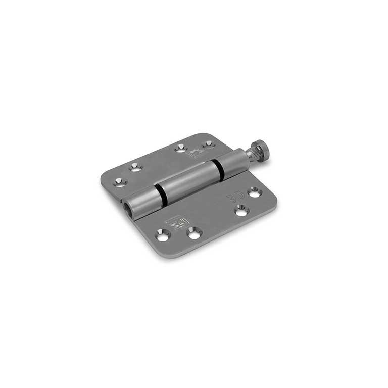Nylon glijlagerscharnier / 3 mm / doorgezette knoop / ronde hoeken / 89x89 mm / verzinkte pen / staal verzinkt / los gestort