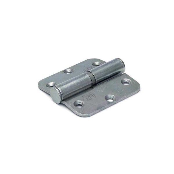 Kogelstiftpaumelle / rechte hoeken / 76x76 mm / links / staal verzinkt