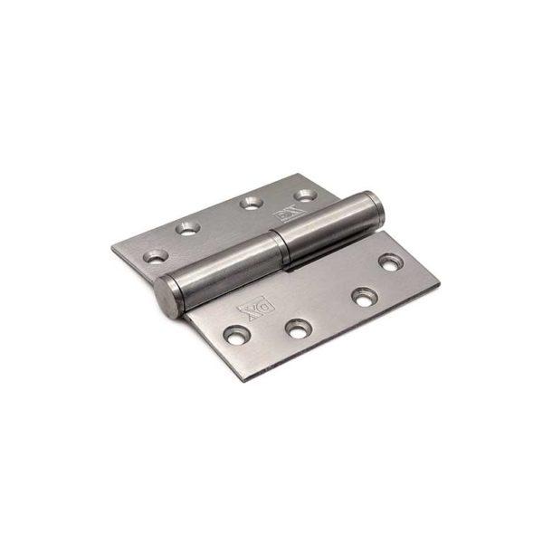 Kogelstiftpaumelle / rechte hoeken / 89x89 mm / links / staal verzinkt
