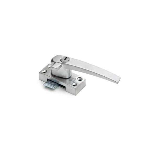 Raamboompje met cilinderslot / linkshandig met nok / SKG*  / zamac / F1 aluminium