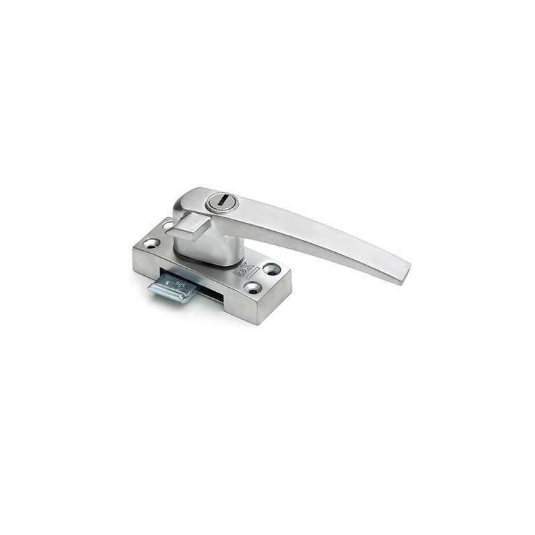 Raamboompje met cilinderslot / rechtshandig met nok / SKG*  / zamac / F1 aluminium
