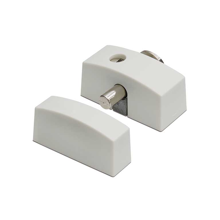 Oplegslot smal met cilinderslot / DX / SKG*   / binnen draaiend / sleutelnr. 011 / wit