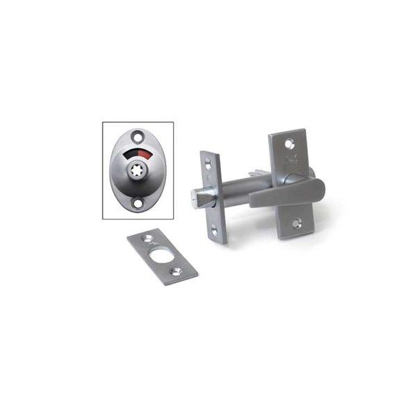 Insteekgrendel met wc garnituur en sluitplaat / 70/50 vernikkeld