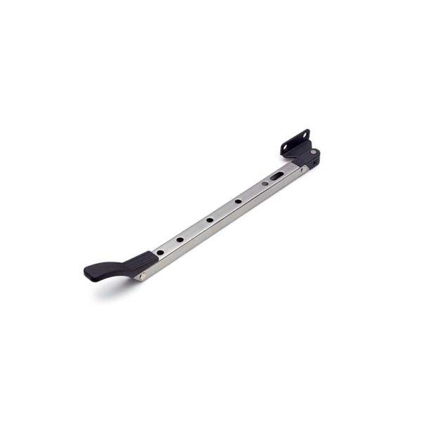 Raamuitzetter / standaard / naar buitendraaiend / 30 cm / rvs finish-zwart